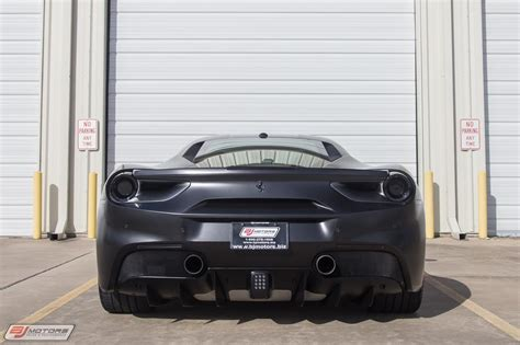 Adaptive frontlight system, yellow brake calipers, suspension lifter, cavallino stitched on headrest, sport exhaust system, carbon fiber steering wheel + led's. Used 2017 Ferrari 488 GTB Matte Black For Sale ($272,995 ...
