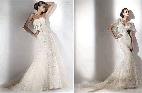 Romantic Elie Saab Mermaid Silhouette Wedding Dresses With