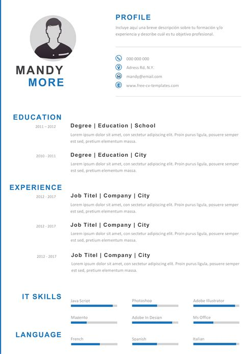 modern resume format modern and effective cv template now for free 23679 | Modern Blue