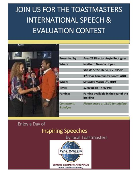 area  international speech evaluation contest reno