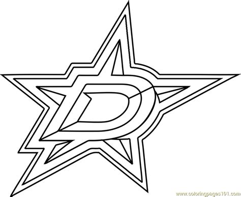 Dallas Stars Logo Coloring Page - Free NHL Coloring Pages ...