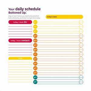daily schedule template 14 download free documents in With daily schedule template for students