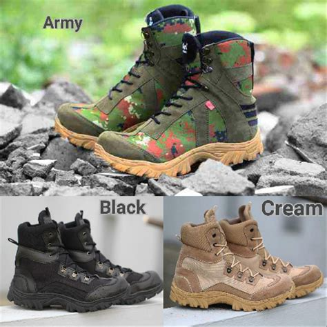 jual sepatu boots safety shoes kickers tracking ujung besi