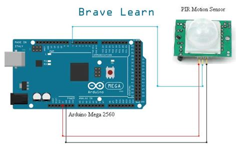 Arduino Interfacing With Pir Motion Sensor Brave Learn