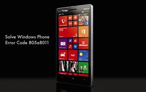 error code 805a8011 windows phone error code 805a8011