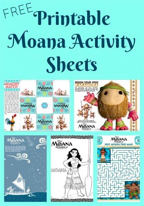 printable moana activity sheets  coloring pages