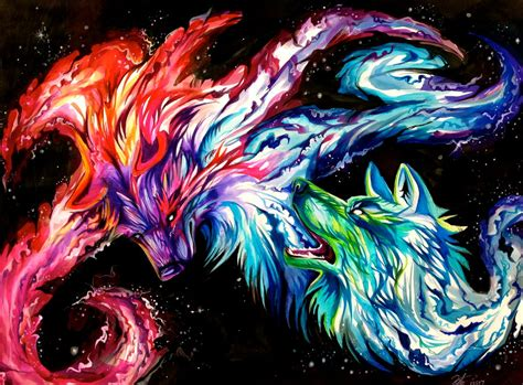 Anime Rainbow Wolf Wallpaper by Space Wolves By Lucky978