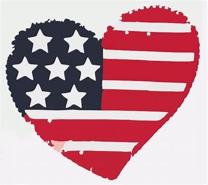 Heart American Clipart America Clip Flag July