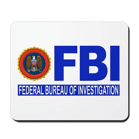 bureau of fbi federal bureau of investigation mousepad by