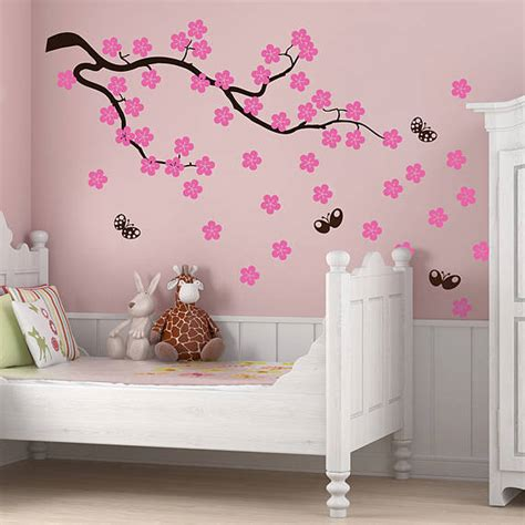 stickers arbre chambre fille cherry blossom branch wall stickers by parkins interiors