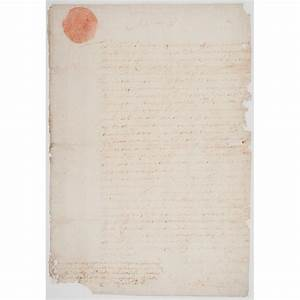 document signed by charles ii of england cowan39s auction With documents by charles