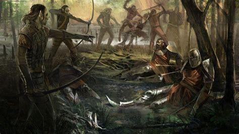 Video games RPG The Witcher fantasy art artbook artwork