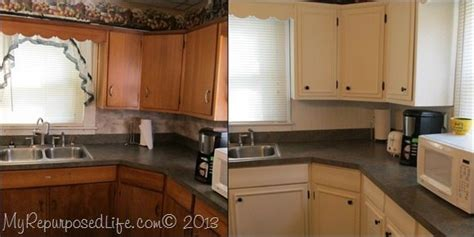 kitchen cabinets updated  paint trim  repurposed life