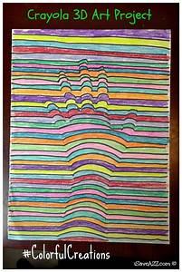 Kids, 3d, Art, Project, Idea, Using, Crayons