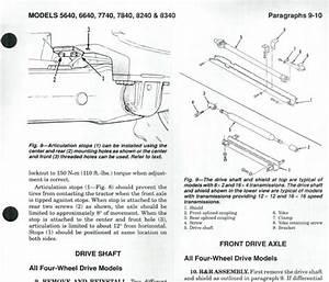 Ford 5640 6640 7740 7840 8240 8340 Tractor Service Manual Shop Repair   Pdf Cd