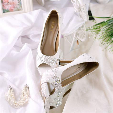 sepatu peeptoe gloria putih slightshop