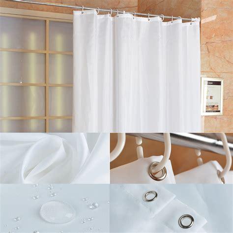 Plain White Shower Curtain - fabric shower curtain plain white wide