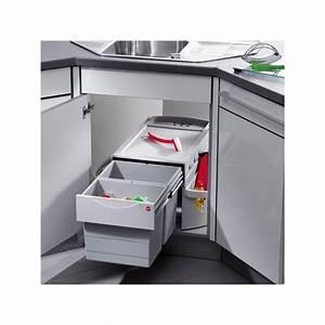 Meuble Poubelle Cuisine : poubelle cuisine pour meuble d 39 angle ~ Dallasstarsshop.com Idées de Décoration
