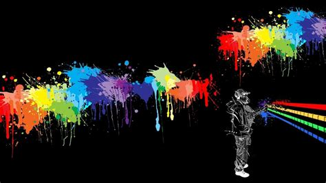 abstract cool graffiti wallpaper  splach paint color