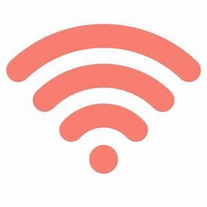 Free salmon wifi icon - Download salmon wifi icon