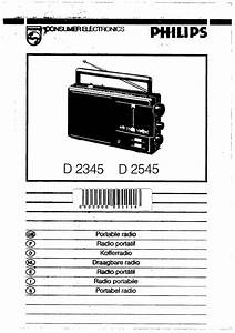 Philips Radio D 2345 User Guide