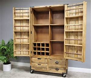 Xl, Reclaimed, Wood, Drinks, Storage, Cabinet, By, Cambrewood