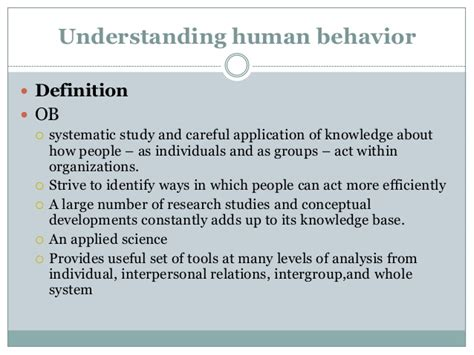 Modification Analysis Definition by Fundamentals Of Organizational Behavior Ppt