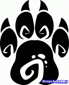 How to Draw a Tribal Paw, Tribal Paw Print, Step by Step ...