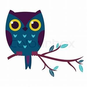 Cute owl isolated vector illustration.   Stock Vector ...