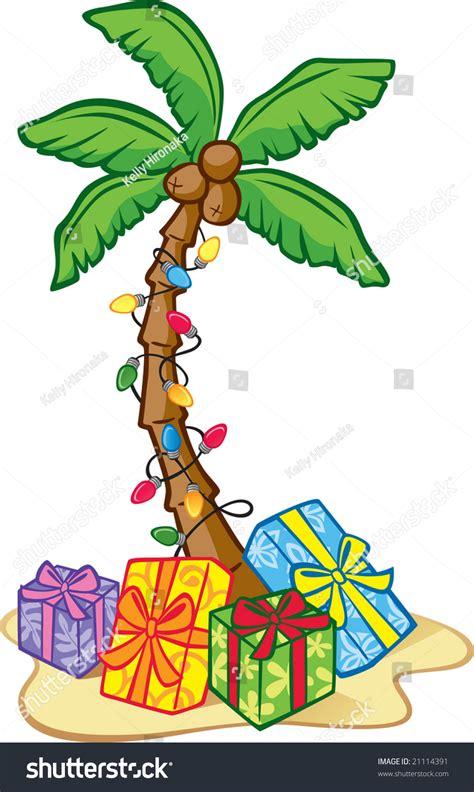 Hawaiian Christmas Tree Stock Vector 21114391 Shutterstock