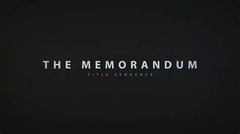 after effects title templates memorandum title sequence after effects template