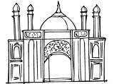 Ramadan Coloring Pages Printable Mosque Masjid Colouring Islamic Eid Creative Activity Activities Studies Worship Place Projects Muslims Coloringpages4kidz Print Kid sketch template