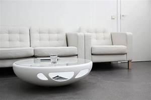 Table Basse Ovale Blanche : table basse en verre blanche 23 id es pour le salon moderne ~ Teatrodelosmanantiales.com Idées de Décoration