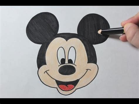 draw mickey mouse easy drawing tutorial youtube