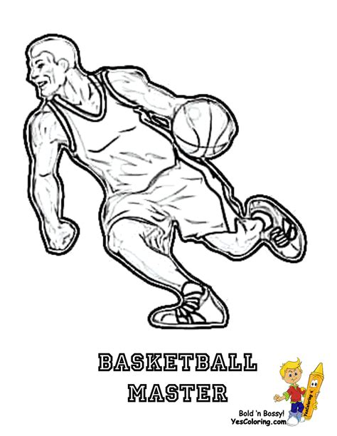 smooth basketball coloring pages basketball free