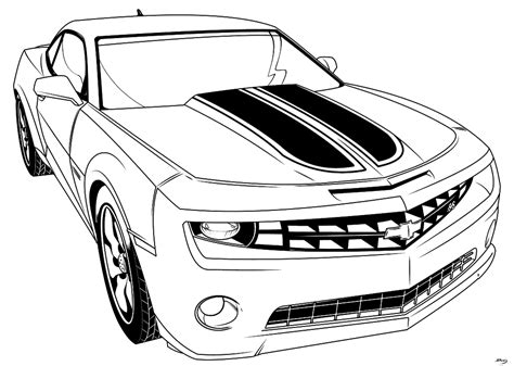 transformer bumblebee car coloring pages cartoon
