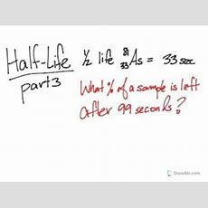 Half Life Calculations Part 3 (easy Way) Youtube