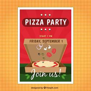pizza party flyer vector free download With pizza party flyer template free
