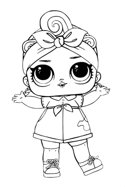 Coloring Lol Dolls by Lol Suprise Doll Coloring Page Lol Dolls Baby Coloring