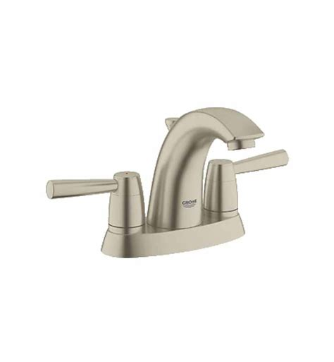 mini widespread faucet brushed nickel grohe 20388en0 arden mini widespread bathroom faucet in