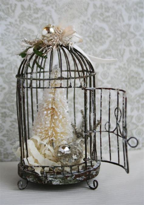 christmas bird cages reserved for yessina pink mercury glass bird with silver metallic chenille tail mercury glass