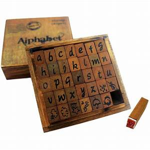 Bo bunny kraft wood alphabet stamps lower case jo ann for Letter stamps for wood