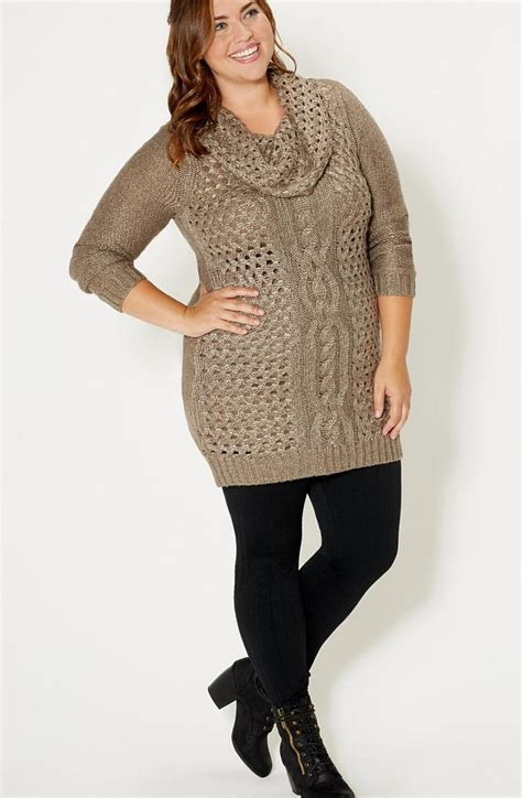 plus size sweaters sweater dress for plus size pluslook eu collection