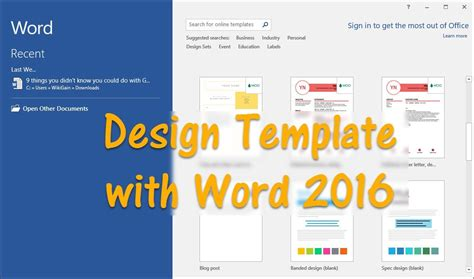 Template For Word by How To Design Template With Word 2016 Wikigain