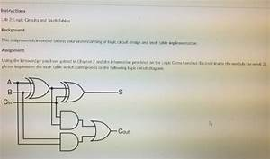 Solved  Instructions Lab 2  Logic Circuits And Truth Table