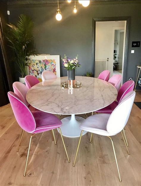 Zoella Kitchen Table zoella dining room walks and pink chairs dining