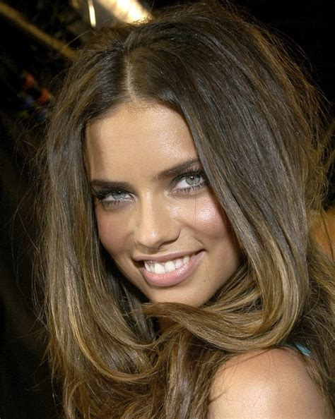 sexy long straight hairstyle  thick hair adriana lima