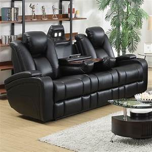 Seats Sofas : delange leather power reclining sofa theater seats with power adjustable headrests storage in ~ Eleganceandgraceweddings.com Haus und Dekorationen