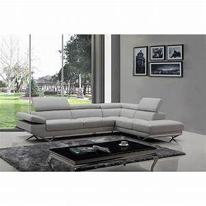 divani casa quebec sectional sofa light gray dcg stores With sectional sofa quebec