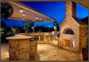 Tuscan Kitchen Island Custom Summer Kitchen Featuring Wood Burning Pizza Oven Rustic Patio By